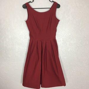 Miusol burgundy sleeveless dress